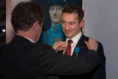 Ceremonia nadania insygniów Ordre national du Merite panu Adamowi Sankowskiemu