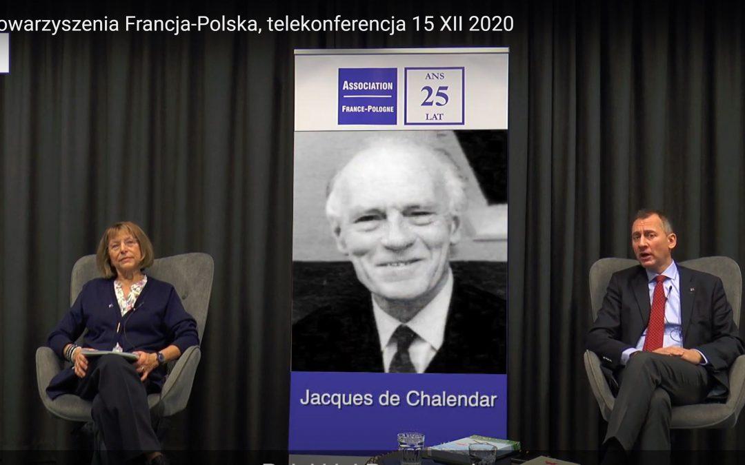 Zapraszamy do obejrzenia skrótu telekonferencji inaugurującej obchody 25-lecia Stowarzyszenia Francja-Polska